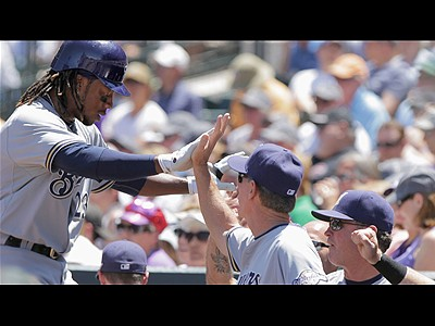 Brewers hold off Rockies