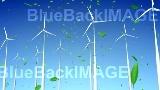 映像素材 風力発電 Wind Turbine E1W