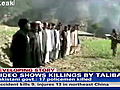 On camera: Taliban execution