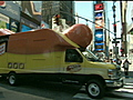 Oscar Mayer Wienermobile on Wall Street