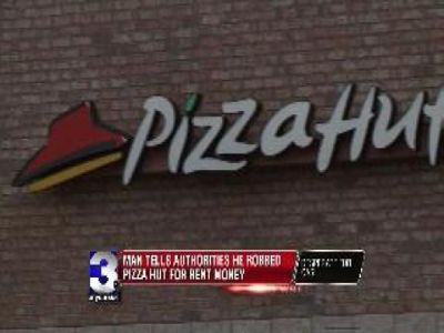 Man Says He Robbed Pizza Hut for Rent