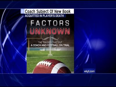 Football coach found not guilty in player's death helps write book